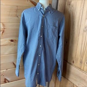 L.L. Bean checkered shirt Wrinkle resistant M Tall